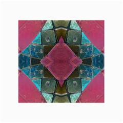 Pink Turquoise Stone Abstract Collage Prints by BrightVibesDesign