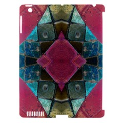 Pink Turquoise Stone Abstract Apple Ipad 3/4 Hardshell Case (compatible With Smart Cover) by BrightVibesDesign