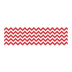 Poppy Red & White Zigzag Pattern Satin Scarf (oblong)