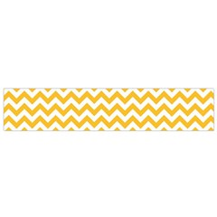 Sunny Yellow & White Zigzag Pattern Flano Scarf (small)