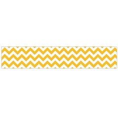 Sunny Yellow & White Zigzag Pattern Flano Scarf (large)