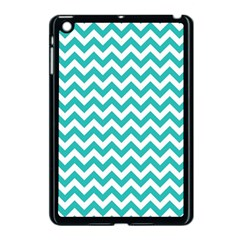 Turquoise & White Zigzag Pattern Apple Ipad Mini Case (black)
