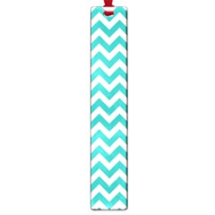 Turquoise & White Zigzag Pattern Large Book Mark
