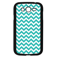 Turquoise & White Zigzag Pattern Samsung Galaxy Grand Duos I9082 Case (black)
