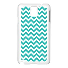 Turquoise & White Zigzag Pattern Samsung Galaxy Note 3 N9005 Case (white)