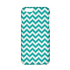 Turquoise & White Zigzag Pattern Apple Iphone 6/6s Hardshell Case by Zandiepants