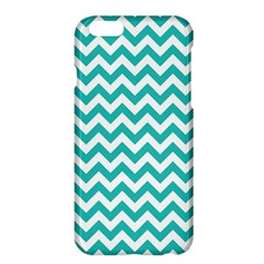 Turquoise & White Zigzag Pattern Apple Iphone 6 Plus/6s Plus Hardshell Case