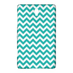 Turquoise & White Zigzag Pattern Samsung Galaxy Tab S (8 4 ) Hardshell Case  by Zandiepants