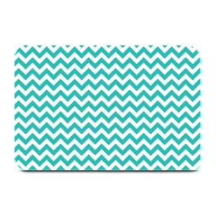 Turquoise & White Zigzag Pattern Plate Mat