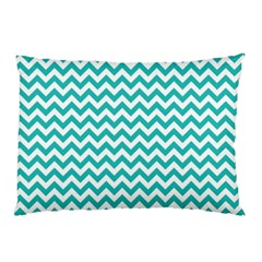 Turquoise & White Zigzag Pattern Pillow Case