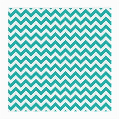 Turquoise & White Zigzag Pattern Medium Glasses Cloth (2 Sides)
