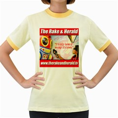It s Only News If We Say It s News By Ignatius Rake Women s Fitted Ringer T-Shirts by RakeClag