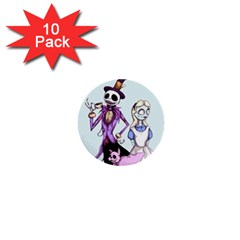 Nightmare In Wonderland  1  Mini Buttons (10 Pack)  by lvbart