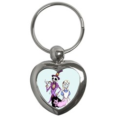Nightmare In Wonderland  Key Chains (Heart)  by lvbart