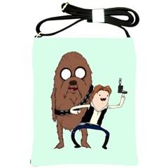 Space Adventure! Mans Best Friend Shoulder Sling Bags by lvbart