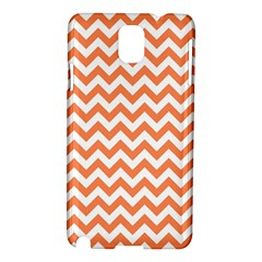 Tangerine Orange & White Zigzag Pattern Samsung Galaxy Note 3 N9005 Hardshell Case by Zandiepants