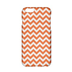 Tangerine Orange & White Zigzag Pattern Apple Iphone 6/6s Hardshell Case by Zandiepants