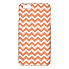 Tangerine Orange & White Zigzag Pattern Iphone 6 Plus/6s Plus Tpu Case by Zandiepants