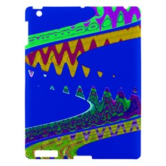Colorful Wave Blue Abstract Apple Ipad 3/4 Hardshell Case by BrightVibesDesign