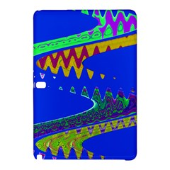 Colorful Wave Blue Abstract Samsung Galaxy Tab Pro 10 1 Hardshell Case by BrightVibesDesign