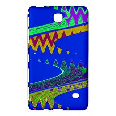 Colorful Wave Blue Abstract Samsung Galaxy Tab 4 (7 ) Hardshell Case  by BrightVibesDesign