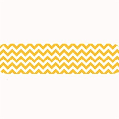 Sunny Yellow & White Zigzag Pattern Large Bar Mat
