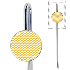 Sunny Yellow & White Zigzag Pattern Book Mark