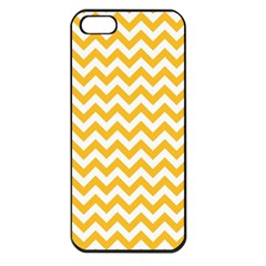Sunny Yellow & White Zigzag Pattern Apple Iphone 5 Seamless Case (black)
