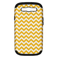Sunny Yellow & White Zigzag Pattern Samsung Galaxy S Iii Hardshell Case (pc+silicone)