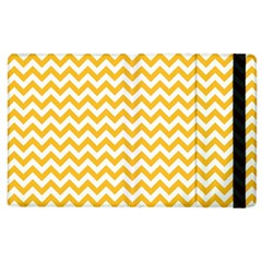 Sunny Yellow & White Zigzag Pattern Apple Ipad 3/4 Flip Case