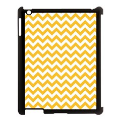 Sunny Yellow & White Zigzag Pattern Apple Ipad 3/4 Case (black) by Zandiepants