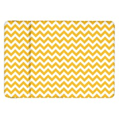 Sunny Yellow & White Zigzag Pattern Samsung Galaxy Tab 8 9  P7300 Flip Case
