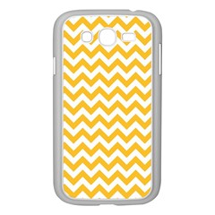 Sunny Yellow & White Zigzag Pattern Samsung Galaxy Grand Duos I9082 Case (white)