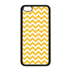 Sunny Yellow & White Zigzag Pattern Apple Iphone 5c Seamless Case (black)