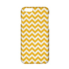 Sunny Yellow & White Zigzag Pattern Apple Iphone 6/6s Hardshell Case by Zandiepants