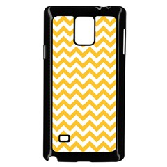 Sunny Yellow & White Zigzag Pattern Samsung Galaxy Note 4 Case (black)