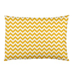 Sunny Yellow & White Zigzag Pattern Pillow Case