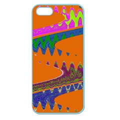 Colorful Wave Orange Abstract Apple Seamless Iphone 5 Case (color) by BrightVibesDesign