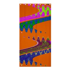 Colorful Wave Orange Abstract Shower Curtain 36  X 72  (stall)  by BrightVibesDesign