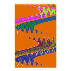 Colorful Wave Orange Abstract Shower Curtain 48  X 72  (small)  by BrightVibesDesign