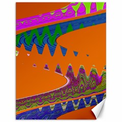 Colorful Wave Orange Abstract Canvas 12  x 16   by BrightVibesDesign