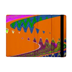 Colorful Wave Orange Abstract Ipad Mini 2 Flip Cases by BrightVibesDesign