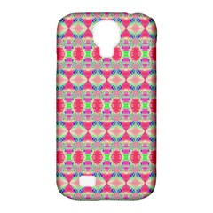 Pretty Pink Shapes Pattern Samsung Galaxy S4 Classic Hardshell Case (pc+silicone) by BrightVibesDesign