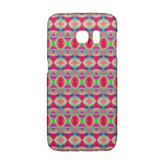 Pretty Pink Shapes Pattern Galaxy S6 Edge