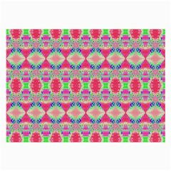 Pretty Pink Shapes Pattern Large Glasses Cloth by BrightVibesDesign