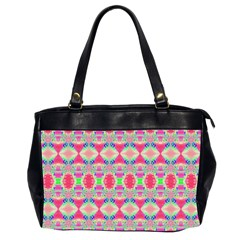 Pretty Pink Shapes Pattern Office Handbags (2 Sides)  by BrightVibesDesign