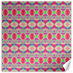 Pretty Pink Shapes Pattern Canvas 20  X 20   by BrightVibesDesign