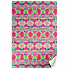 Pretty Pink Shapes Pattern Canvas 20  X 30   by BrightVibesDesign