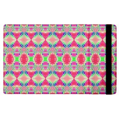 Pretty Pink Shapes Pattern Apple Ipad 2 Flip Case by BrightVibesDesign