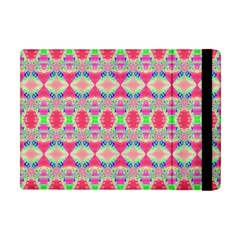 Pretty Pink Shapes Pattern Apple Ipad Mini Flip Case by BrightVibesDesign